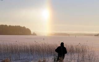 Kallavesi lake in Kuopio froze 12.30.2015 at 0.30. The largest lake of North Savo of the province. It covers an area of 472.76 square kilometers, making it the largest Finnish tenth of the lake.