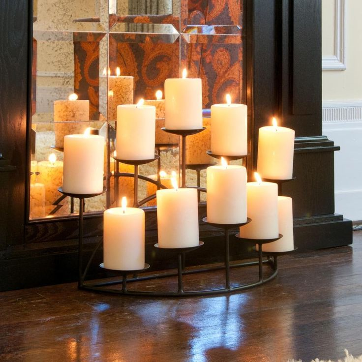 Interesting Fireplace Candle Holder