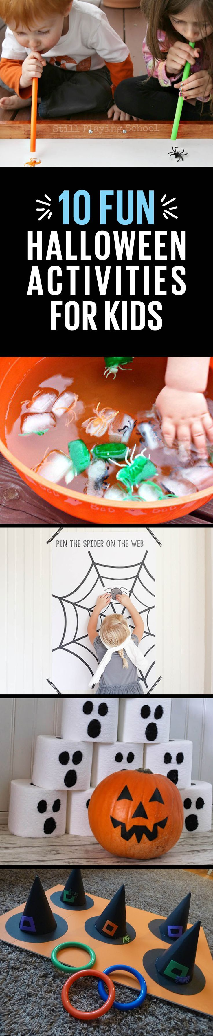 Witch's hat ring toss, pin the spider on the web...so many spooky-fun ideas to get your little ghouls in the Halloween spirit.