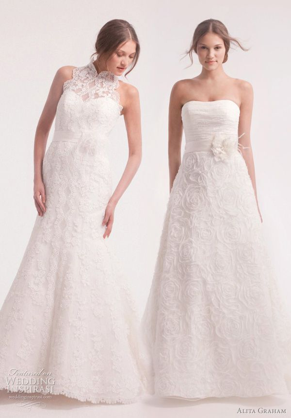 alita graham wedding dresses 2011 2012...flowers?