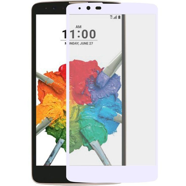 Full Edge Colored Tempered Glass Screen Protector, White