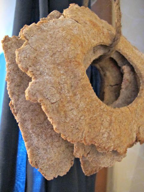 Finnish handmade hard bread, hung up to dry like in the olden  days | Näkkileipä