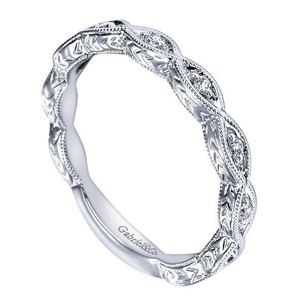 14K White Gold Victorian Style Marquise Shaped Diamond Station Wedding | Mullen Jewelers