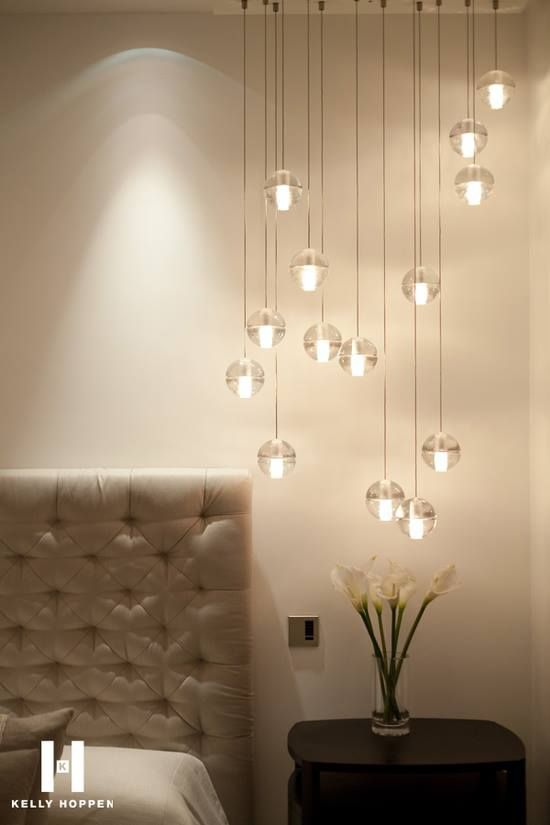 I never thought of using these lights in the bedroom. I love the idea.
