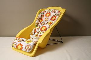 Vintage 1960s 70s Yellow and Orange MOD Style Baby Seat by Century | eBay