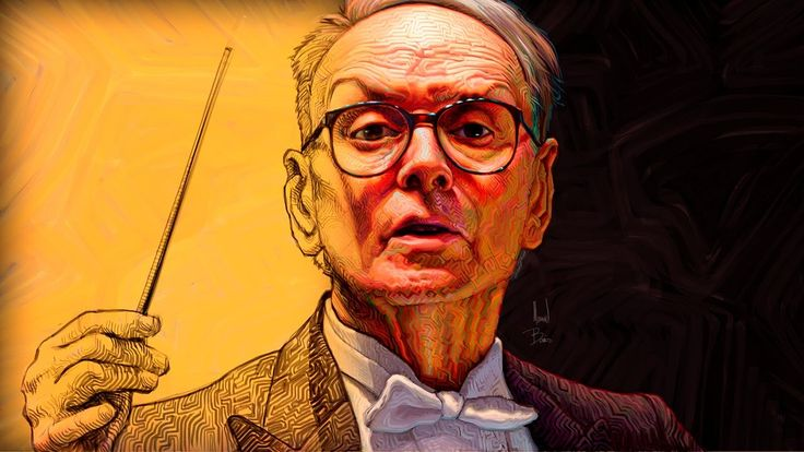 Ennio Morricone, art by Manuel Berrios C. wacom-photoshop-camtasia