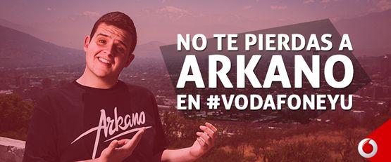 Esta tarde, a partir de las 18:10 horas, muy atentos al #streaming de Vodafone yu! Arkano estrena sección!! ➡ http://yu.los40.com/ Y si no puedes verlo en directo, no te preocupes! A las 22:10 tendrás otra oportunidad! ➡ http://www.yes.fm/player/star/40Principales #Yuser