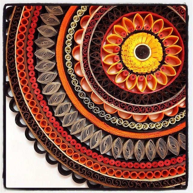 Mandala quill art.