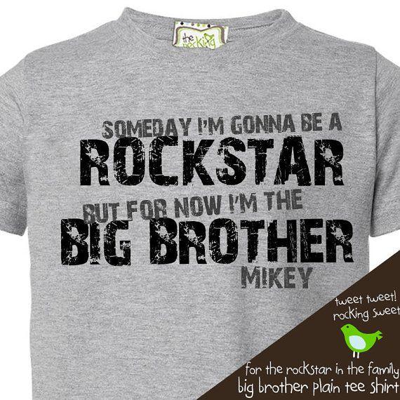 big brother shirt personalized rockstar big brother by zoeysattic, $16.50