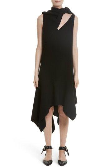 MONSE KNOTTED NECKLINE DROP WAIST DRESS. #monse #cloth #