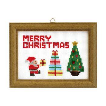 オリムパス 刺繍キット クリスマス クロスステッチ サンタ&ツリー X-88 通販|手芸の店 もりお!