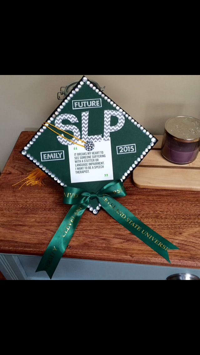 Spring 2015 speech-language pathology undergraduate cap!