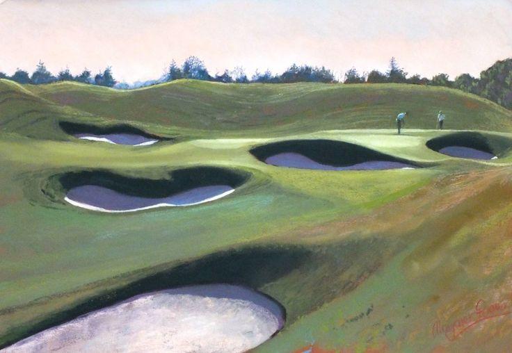 Margaret Evans_Final Challenge 18th PGA Course, Gleneagles. Contemporary Scottish Art