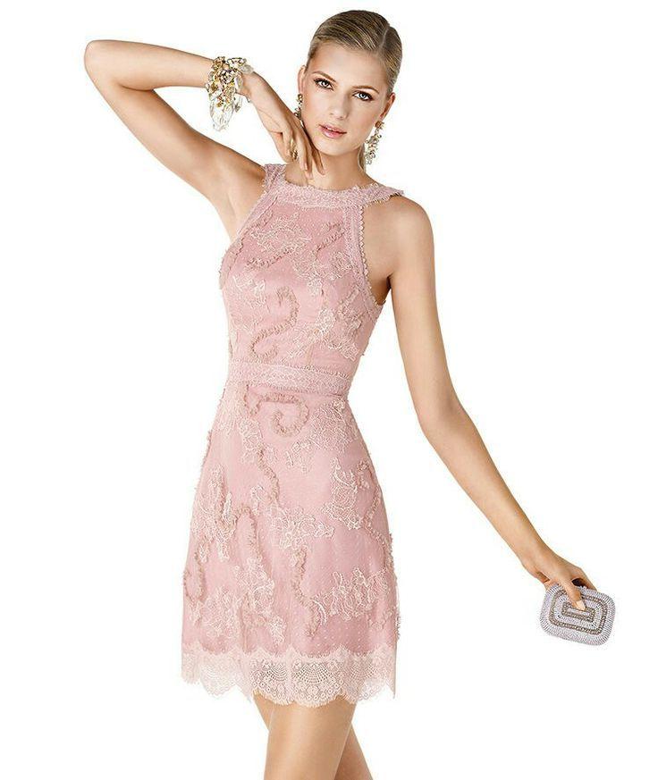 Complementos para vestido largo rosa palo