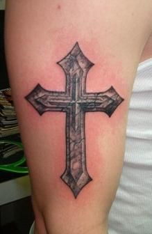 Cross Tattoo. For Him.
