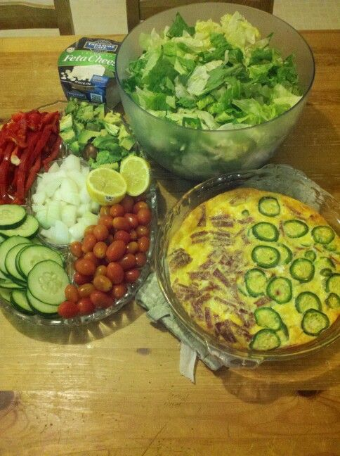 Greek salad n jalapeno popper quiche | Din Din Time! | Pinterest