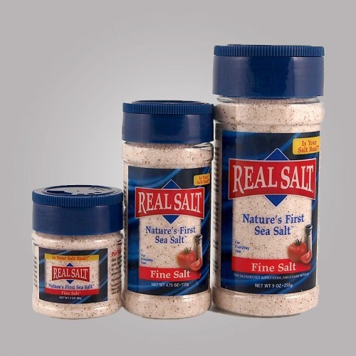 Redmond Real Salt. Ancient All Natural Sea Salt. Unrefined sea salt mined from ancient sea bed. Contains 50+ trace minerals, including iodine. Not bleached, kiln, dried, heated, or altered with chemicals or pollutants. **Table salt is POISON for your body!** Use sea salt instead for everything else.