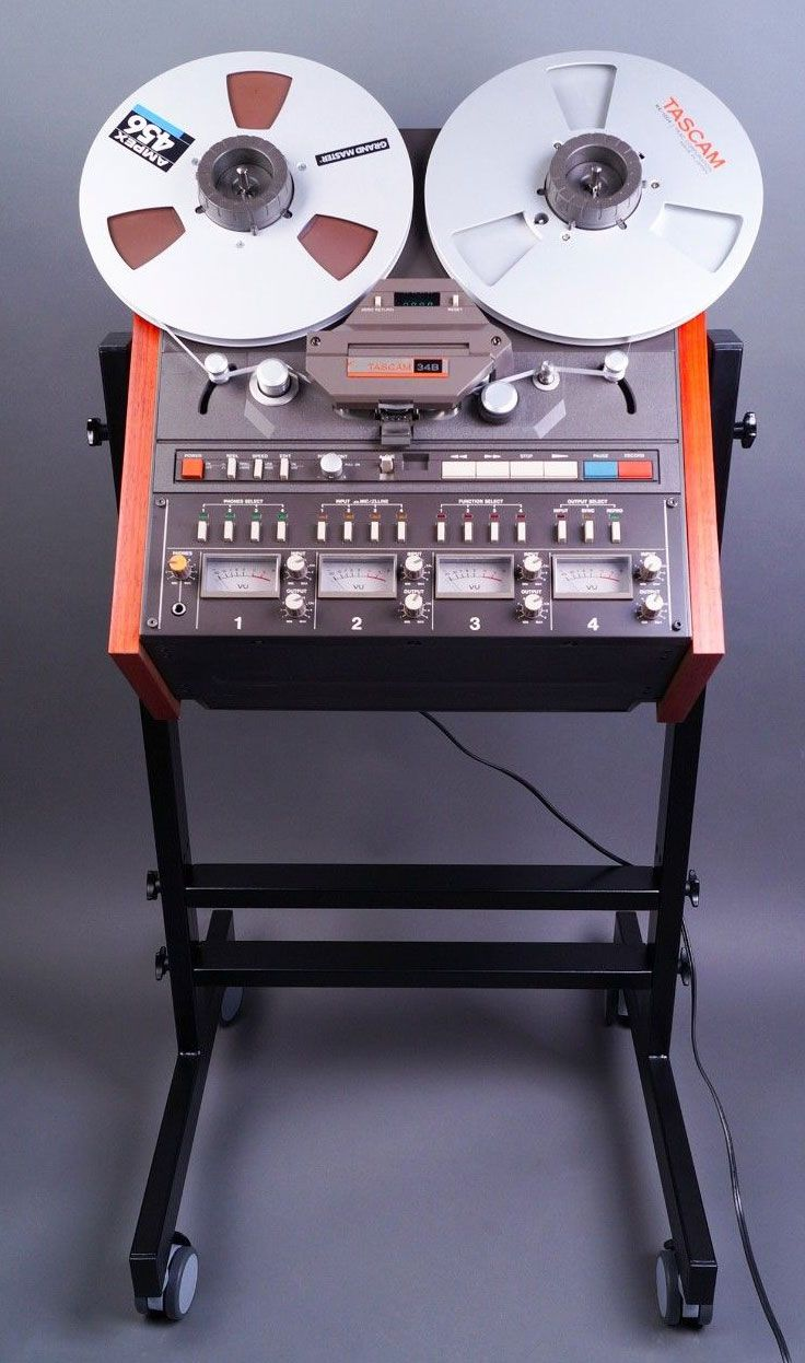 """The Tascam 34-B 1?4"""" 4 track reel to reel recorder improved on the model 34 from 1983. It was released either in 1986, or 1989."""