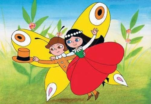 Maková panenka a motýl Emanuel (Czech cartoon for kids), illustrator Gabriela Dubská