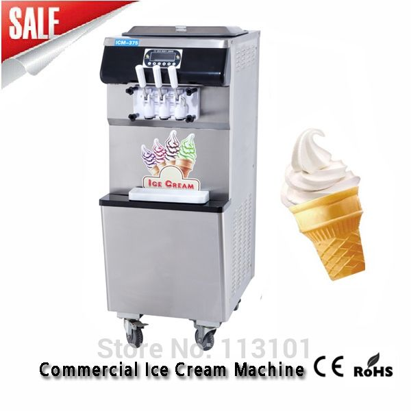 1257.00$  Buy here - http://alii9f.worldwells.pw/go.php?t=600229087 - Soft Ice Cream Machine Stainless Steel Ice Cream Making Machine with Self-cleaning Function 25~38 Liters/hour Soft Serve