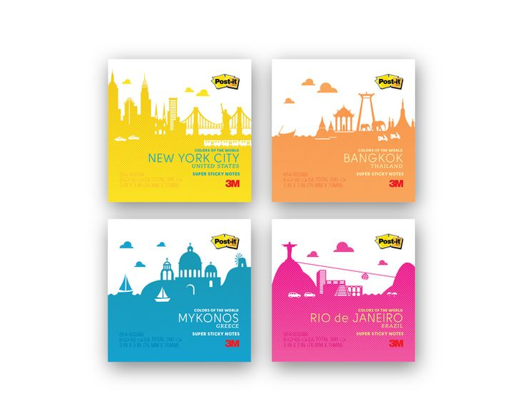 Post it- Colors of the World — The Dieline - Package Design Resource