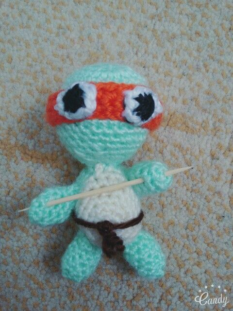Amigurumi ninja turtle