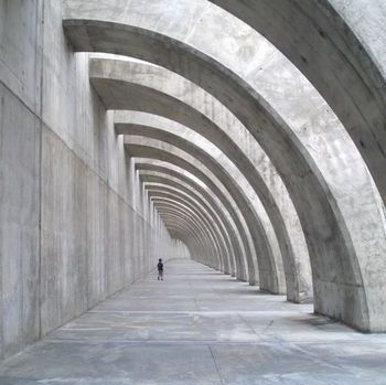 Visions of an Industrial Age // Curved colonnade