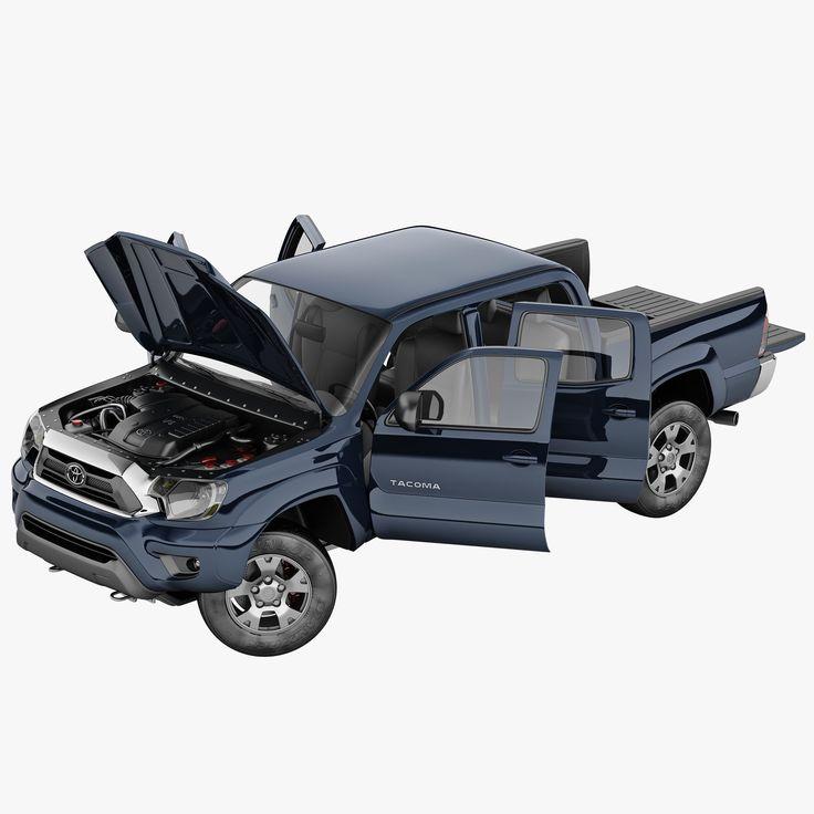 3Dsmax Toyota Tacoma 2012 Rigged - 3D Model