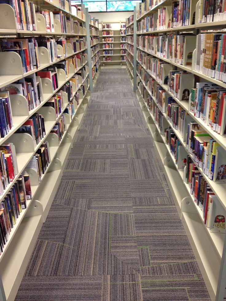 Milliken Remix carpet in a library setting