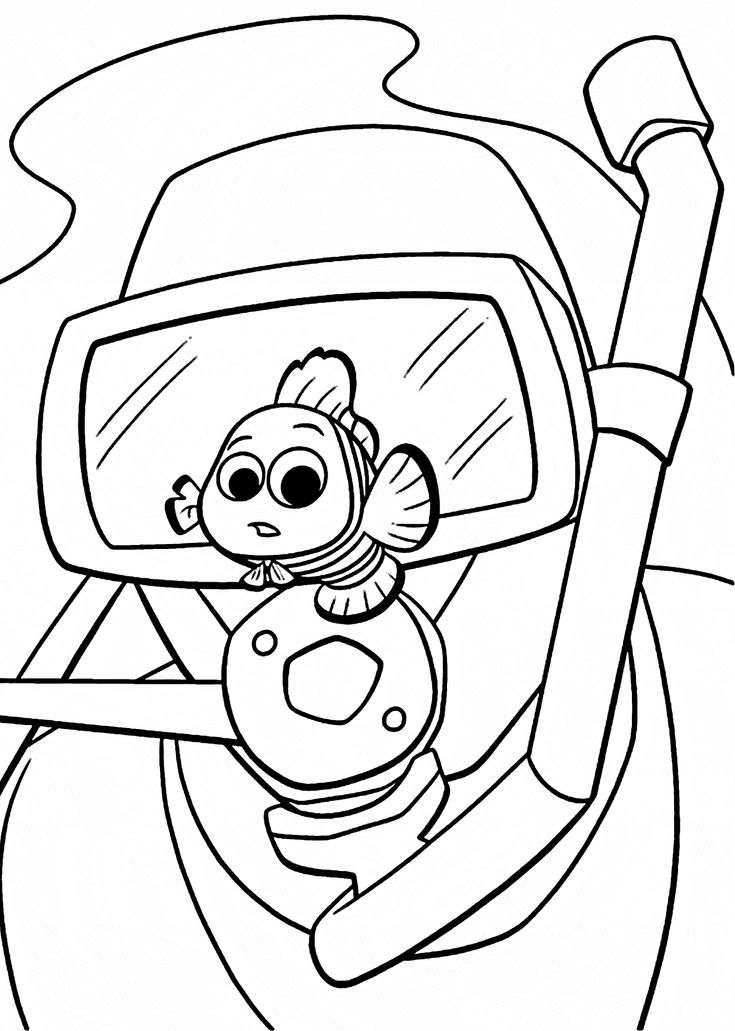 78 Best images about Coloring Pages Finding Nemo on