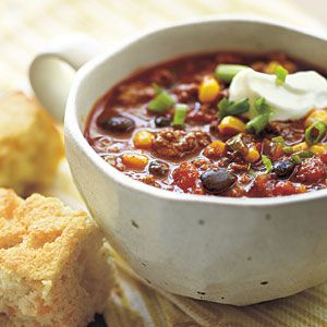 Beefy Corn and Black Bean Chili | CookingLight.com