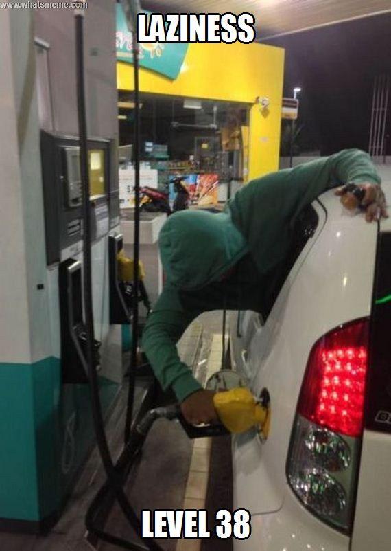 Gas Pump Hack | 17 Laziest Life Hacks Ever
