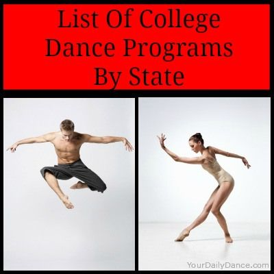 College Dance Programs - List and links to dance departments by State...