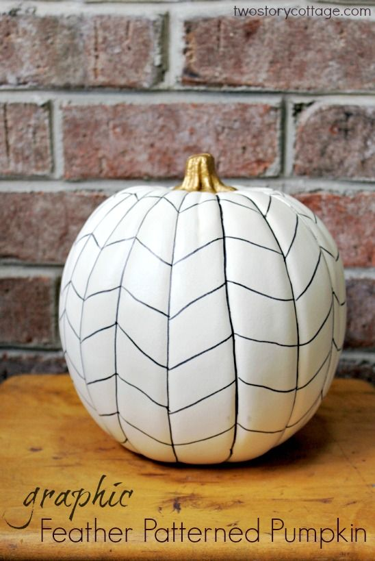 feather patterned pumpkin