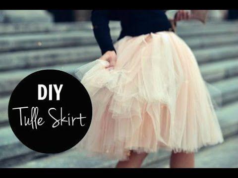 1 MIN TUTORIAL | DIY Tulle Skirt - YouTube