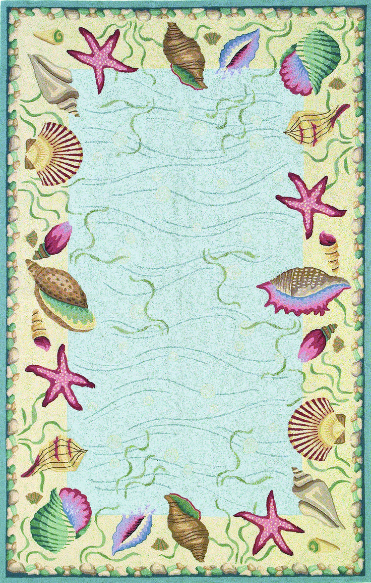 Blue Ocean S Surprise Hooked Rug