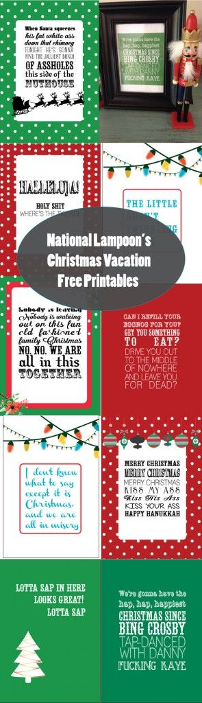 National Lampoon's Christmas Vacation Free Printables - SohoSonnet Creative Living