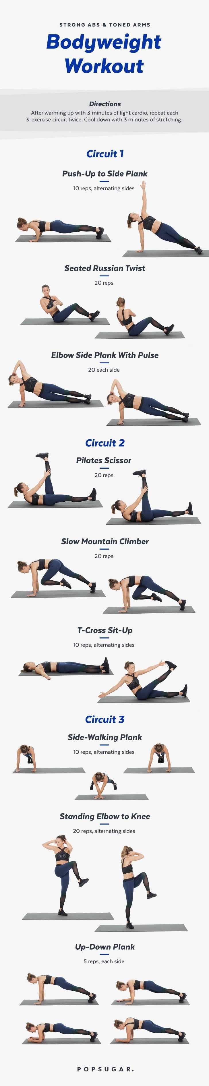 Time to ditch the weights! This workout will challenge your entire body to work. Warning: it may hurt to la...