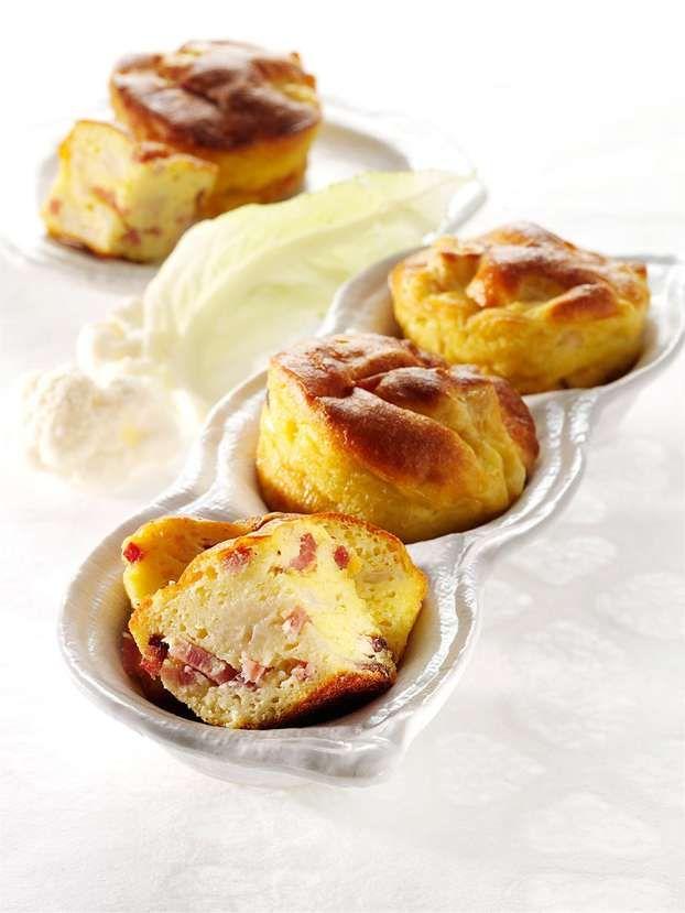 Muffin al cavolfiore e speck di Luca Montersino  http://www.alice.tv/pasticceria-salata/muffin-cavolfiore-speck