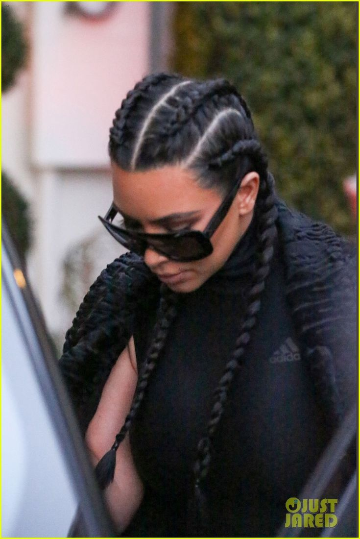 Kim Kardashian wears her hair in braids while leaving the Epione Cosmetic Laser Center on Thursday evening (February 18) in Beverly Hills, Calif.    The 34-year-old…