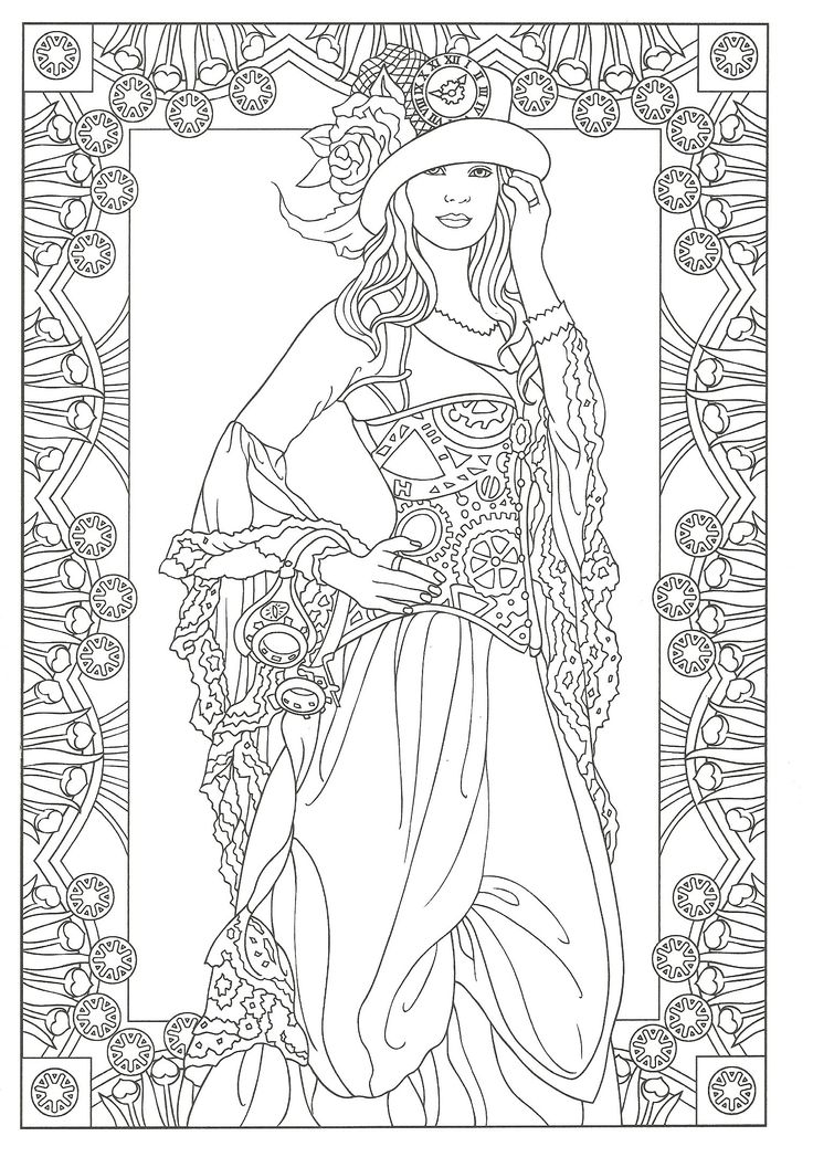 Steampunk Coloring From Creative Haven Fashions Book Dover Publications