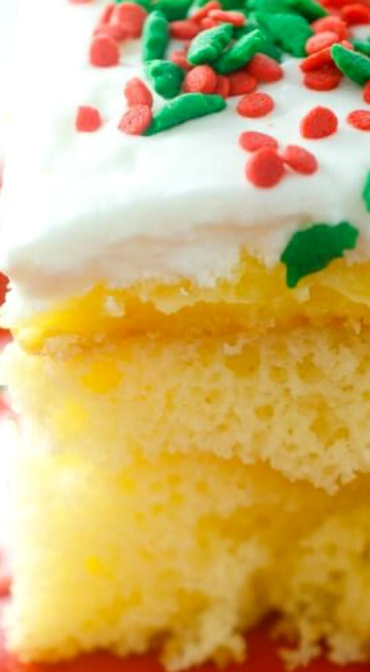 Eggnog Poke Cake ~ An easy yet decadent Eggnog Poke Cake perfect for all of your holiday celebrations!