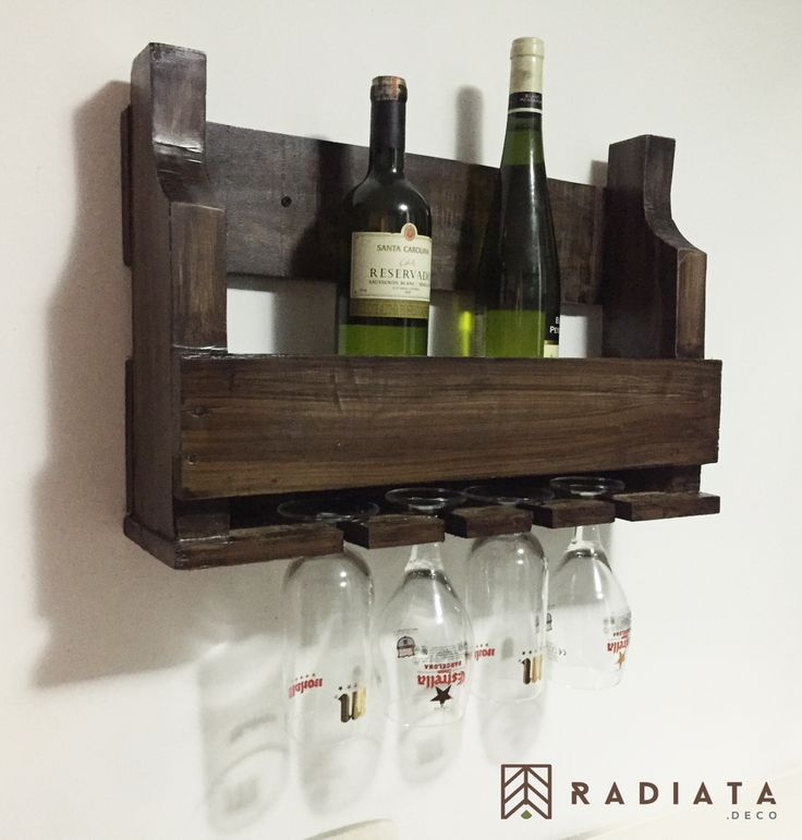Mini bar - Hecho en estibas recicladas RADIATA. DECO - Diseñamos un estilo de vida - ♻️