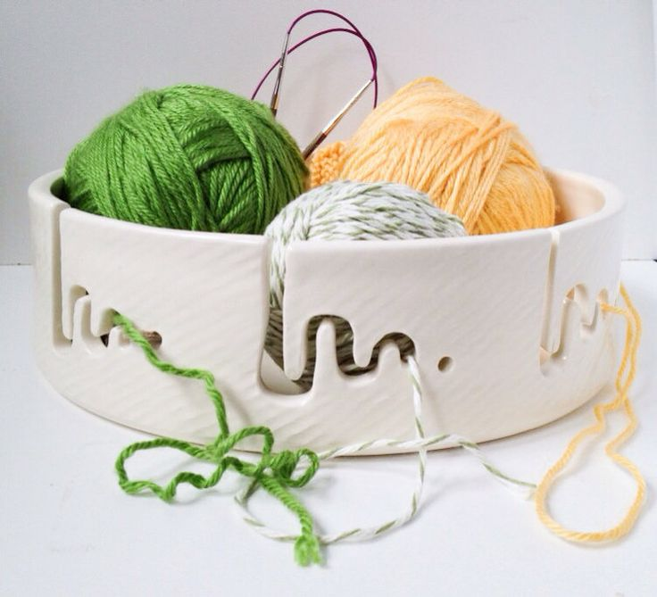 Jumbo 10 Yarn Bowl in White by Citybytheseaceramics on Etsy, $100.00