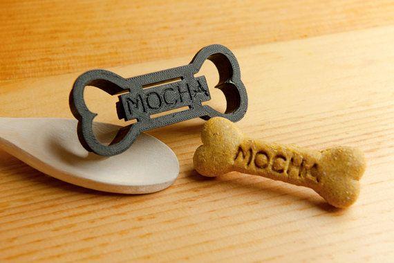 Dog Bone Cookie Cutter Custom Treat Personalized by NameThatCookie