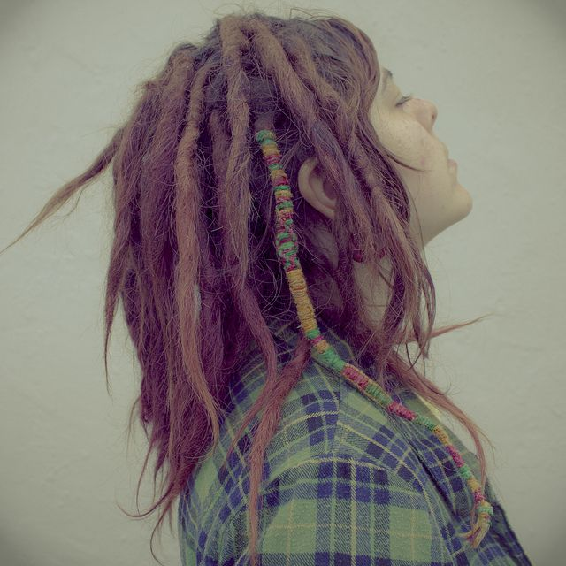 Such a beautiful head of dreads! And I love the dread-wrap. From lazyeye- on Flickr