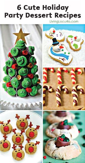 These 6 Cute Holiday Party Dessert Recipes turn simple baked goods into fun and festive winter treats. All you need is a little creativity and some helping hands from the kiddos!