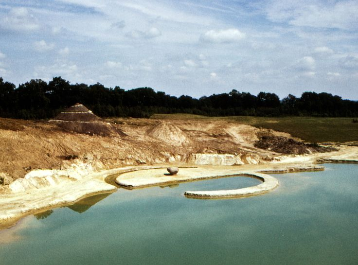 Earthworks, monumental excavations and land projects weren't originally intended to be sold.