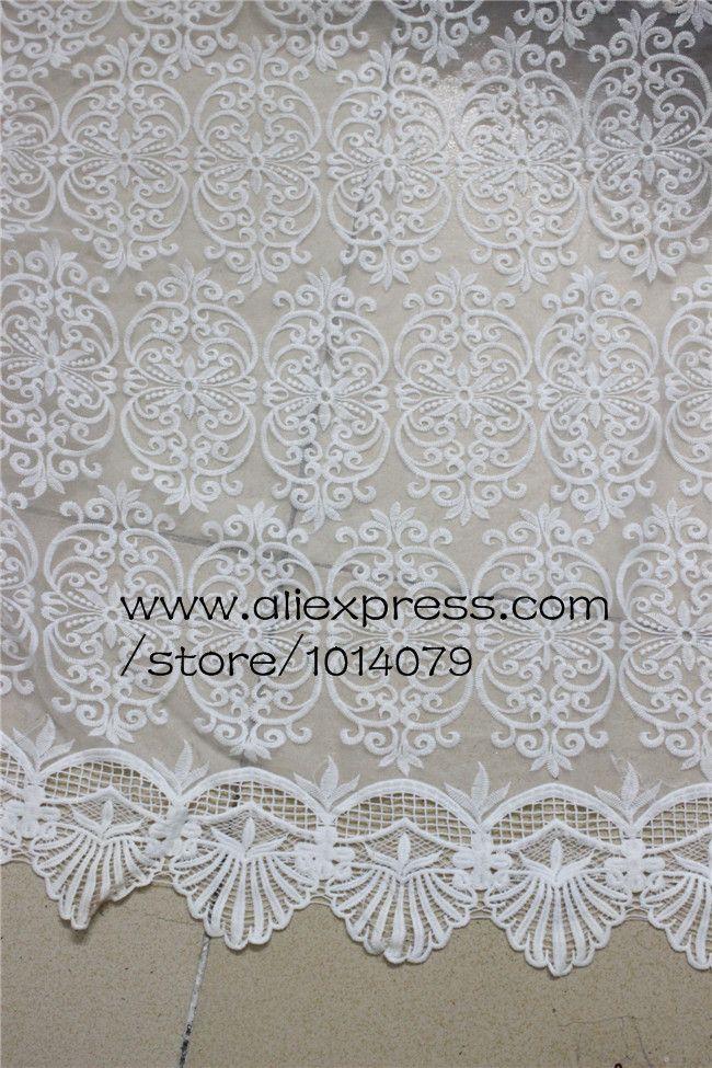 Купить Белый 3D цветок кружево повторяющийся кружево вышивка растворимый в воде кружево ткань 120 см широкий одежда аксессуарыи другие товары категории Тканьв магазине BIG BEN TEXTITLEнаAliExpress. 025