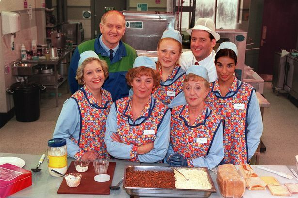 Victoria Wood's Dinnerladies was set in a factory in Manchester and also featured future Corrie star Shobna Gulati